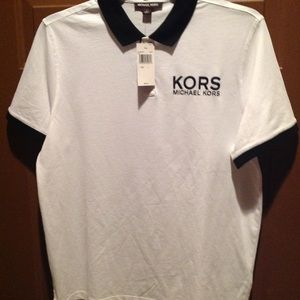 White Michael Kors polo men's large shirt